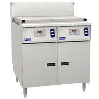 Pitco SRTG14-2-D Natural Gas 17.5 Gallon Two Section Rethermalizer with Digital Controls - 110,000 BTU