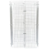 Regency NSF Chrome Wire Security Cage - 24 inch x 36 inch x 61 inch
