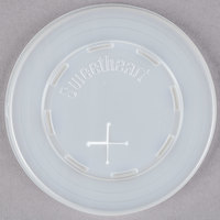 Dart Solo L7N-0100 7 oz. Translucent Flat Plastic Lid with Straw Slot - 100 / Pack