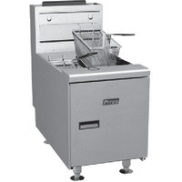 Pitco SGC 35 lb. Gas Countertop Fryer with Millivolt Controls - 75,000 BTU