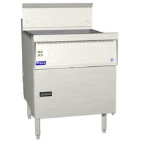 Pitco FBG24-D 57-87 lb. Flat Bottom Gas Floor Fryer with Digital Controls - 120,000 BTU