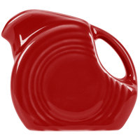 Homer Laughlin 475326 Fiesta Scarlet 4.75 oz. Mini Disc Creamer Pitcher - 4 / Case