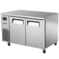 Turbo Air JUF-48N J Series 48 inch Narrow Undercounter Freezer with Side Mounted Compressor - 8.9 Cu. Ft.