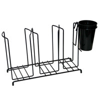 San Jamar C8003WFS Cup and Lid Wire Organizer - 3 Stacks