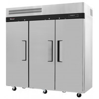 Turbo Air JRF-65 74 inch J Series Three Section Dual Temperature Reach-In Refrigerator / Freezer Combo - 64.2 Cu. Ft.