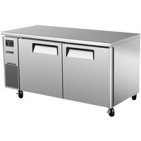 Turbo Air JUF-60N J Series 60 inch Narrow Undercounter Freezer with Side Mounted Compressor - 12.1 Cu. Ft.