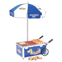 Nemco 6550-DW Blue Mini Hot Dog Cart with (3) 1/3 Pan Configuration - 120V, 1220W