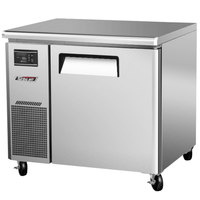Turbo Air JUF-36N J Series 36 inch Narrow Undercounter Freezer with Side Mounted Compressor - 6.3 Cu. Ft.