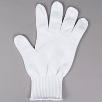 San Jamar SG10-M White Cut Resistant Glove with Dyneema - Medium