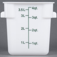 4 Qt. White Square Food Storage Container