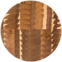 Tablecraft ACARD14 Acacia Wood End Grain Chopping Block Serving Board - 14 inch x 1 1/2 inch