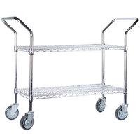 Regency 18 inch x 48 inch Two Shelf Chrome Heavy Duty Utility Cart