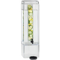Cal-Mil 1112-5AINF Clear Acrylic 5 Gallon Square Beverage Infusion Dispenser