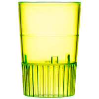 Fineline Quenchers 4110-Y 1 oz. Neon Yellow Hard Plastic Shooter Glass - 10 / Pack