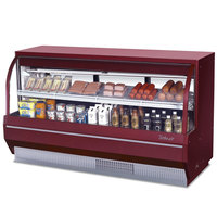 Turbo Air TCDD-72-2-L Red 72 inch Curved Glass Refrigerated Deli Case - 14.2 Cu. Ft.
