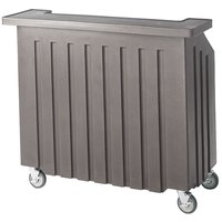 Cambro BAR540DS671 Granite Gray and Slate Gray Designer Series Cambar 54 inch Portable Bar with 5-Bottle Speed Rail