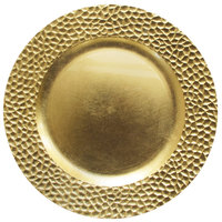 The Jay Companies 13 inch Round Gold Hammered Polypropylene Charger Plate