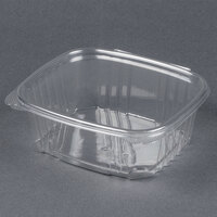 Genpak AD32 7 1/4 inch x 6 3/8 inch x 2 5/8 inch 32 oz. Clear Hinged Deli Container - 100 / Pack