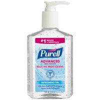 Purell® 9652-12 Advanced 8 oz. Gel Instant Hand Sanitizer - 12 / Case