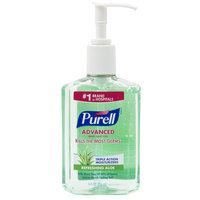 Purell® 9674-12 Advanced with Aloe 8 oz. Gel Instant Hand Sanitizer   - 12/Case