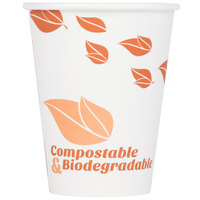 EcoChoice 12 oz. Leaf Print Compostable and Biodegradable Paper Hot Cup - 1000/Case