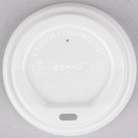 EcoChoice 8 oz. White Compostable and Biodegradable Paper Hot Cup Lid - 50 / Pack