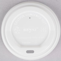 EcoChoice 8 oz. White Compostable and Biodegradable Paper Hot Cup Lid - 50/Pack