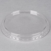 Genpak SC933 Clear Round Supermarket Container Lid - 100 / Pack