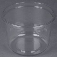 Genpak SC032 32 oz. Clear Round Supermarket Container - 300 / Case