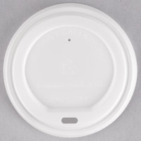 EcoChoice 10-20 oz. White Compostable and Biodegradable Paper Hot Cup Lid - 1000/Case