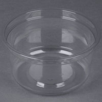 Genpak SC025 25 oz. Clear Round Supermarket Container - 300 / Case