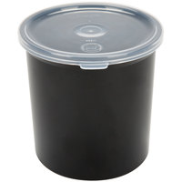 Carlisle 030103 1.2 Qt. Black Classic Crock with Lid - 12/Case