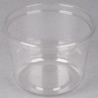 Genpak SC032 32 oz. Clear Round Supermarket Container - 50 / Pack