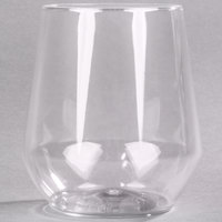 WNA Comet RESSGL12 Reserv 12 oz. Clear Plastic Disposable Stemless Wine Goblet - 16/Pack