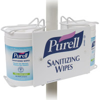 Purell® 9002-01 Sanitizing Wipes Double Canister Pole-Mount Bracket