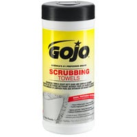 GOJO® 6383-06 Scrubbing Towels Heavy Duty Wipes 25 Count Canister - 6/Case