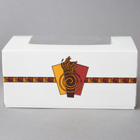 9 inch x 4 1/2 inch x 4 inch White Auto-Popup Window Cake / Bakery / Donut Box with Printed Graphic - 10/Pack