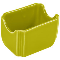 Homer Laughlin 479332 Fiesta Lemongrass 3 1/2 inch x 2 3/8 inch Sugar Caddy - 12 / Case