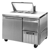 Continental Refrigerator CRA43-6 43 inch Extra Deep Sandwich / Salad Prep Refrigerator