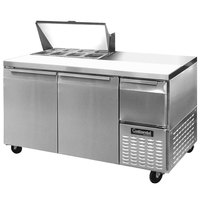 Continental Refrigerator CRA68-8 68 inch Extra Deep Sandwich / Salad Prep Refrigerator