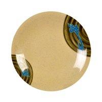 Wei 4 3/4 inch Round Melamine Dinner Plate - 12 / Pack