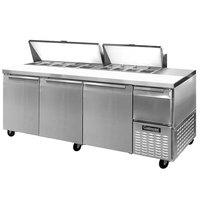 Continental Refrigerator CRA93-18 93 inch Extra Deep Sandwich / Salad Prep Refrigerator