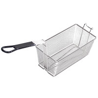 Pitco A4500302 17 1/4 inch x 6 1/2 inch x 5 3/4 inch Twin Fryer Basket with Front Hook