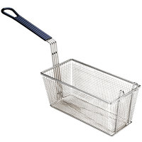 Pitco P6072146 13 1/4 inch x 6 1/2 inch x 5 3/4 inch Twin Size Fine Mesh Fryer Basket with Front Hook