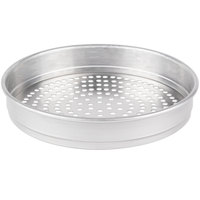 American Metalcraft SPHA5007 7 inch x 2 inch Super Perforated Heavy Weight Aluminum Straight Sided Pizza Pan