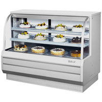 Turbo Air TCGB-60-DR White 60 1/2 inch Curved Glass Dry Bakery Display Case - 18.7 Cu. Ft.