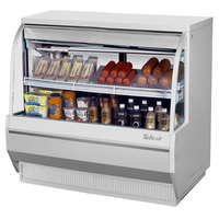 Turbo Air TCDD-48-2-L 48 inch White Low Profile Curved Glass Refrigerated Deli Case - 9.3 cu. ft.