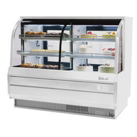 Turbo Air TCGB-60-CO 60 inch White Curved Glass Dual Dry / Refrigerated Bakery Display Case - 18.4 cu. ft.