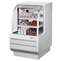 Turbo Air TCDD-36-2-H 36 inch White Curved Glass Refrigerated Deli Case - 10.2 cu. ft.