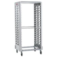 Rubbermaid 3324 18 Pan Ivory Max System Dual Load Steam Table Pan Rack (FG332400OWHT) - Unassembled